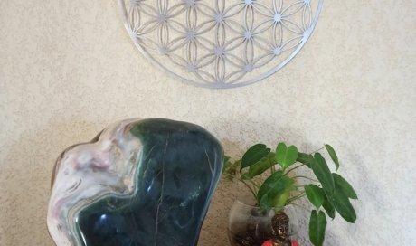 Fleur de Vie aluminium dans votre espace déco